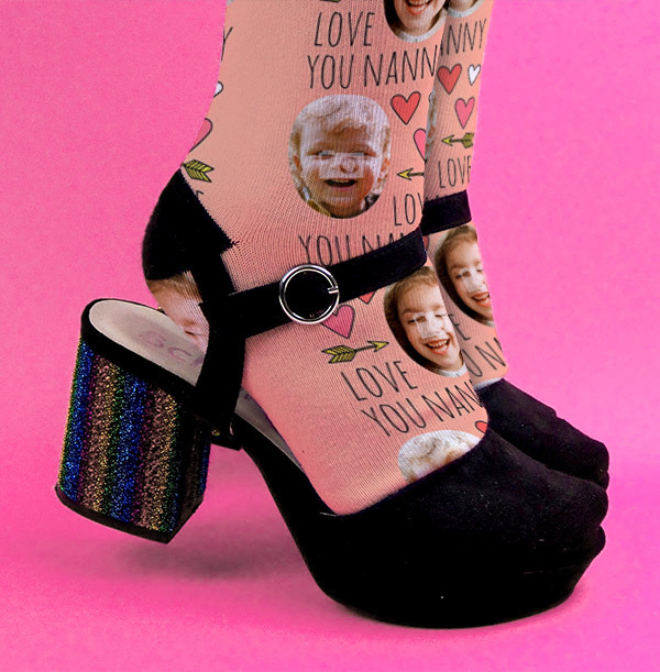 Nanny Mother's Day Photo Socks