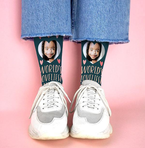 Loveliest Mummy Mother's Day Photo Socks