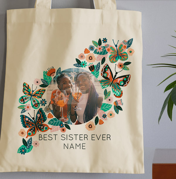 Best Sister Ever Photo Tote Bag