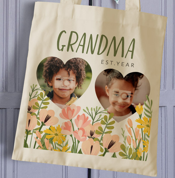 Grandma Mother's Day Photo Tote Bag