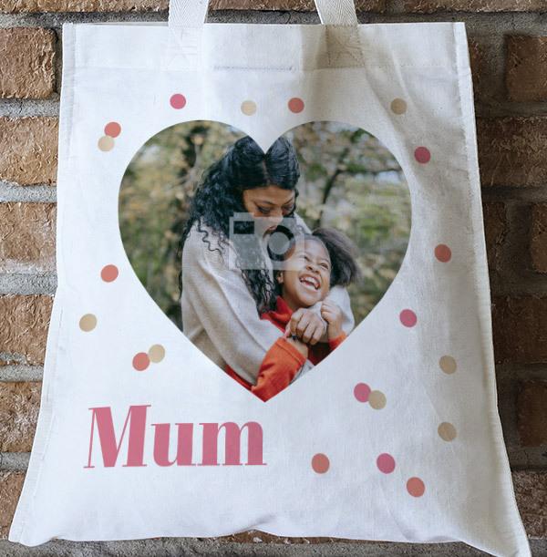 Mum Heart Photo Tote Bag