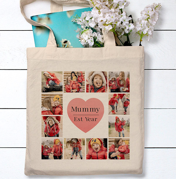 Mummy Mother's Day Multi-Photo Tote Bag