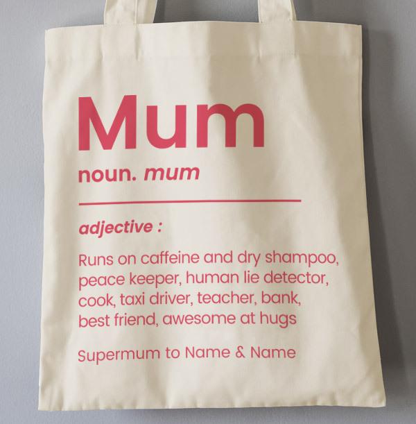 Mum Definition Personalised Tote Bag