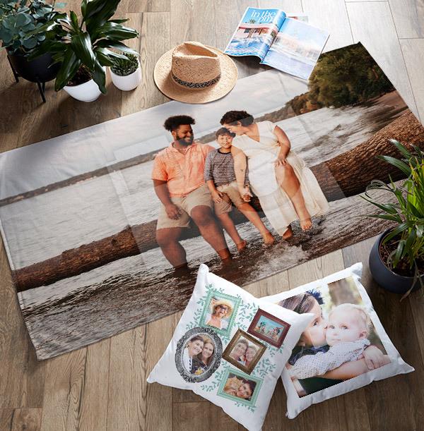 Photo Upload Personalised Towel Landscape