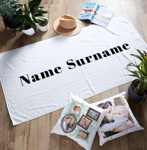 Name Surname Personalised Towel