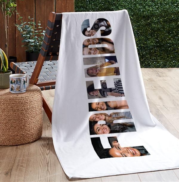 Friends Photo Upload Personalised Towel