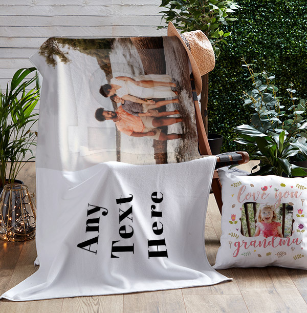 Photo Upload & Text Personalised Towel