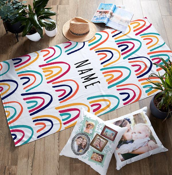 Rainbow Personalised Towel