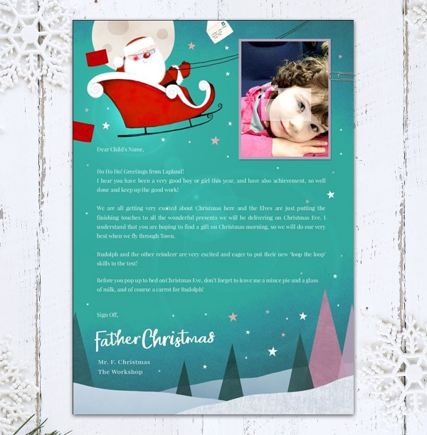 Personalised Letter From Santa - Flying Sleigh