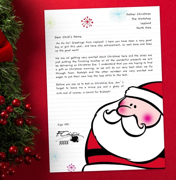 Personalised Letter From Santa Claus