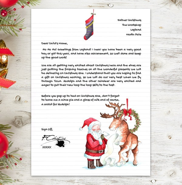 Personalised Letter From Santa - Santa's List