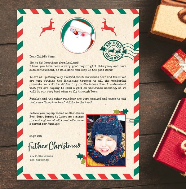 Photo Upload Letter From Santa - Sleigh Mail