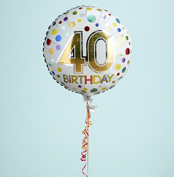 40th Birthday Spots Balloon