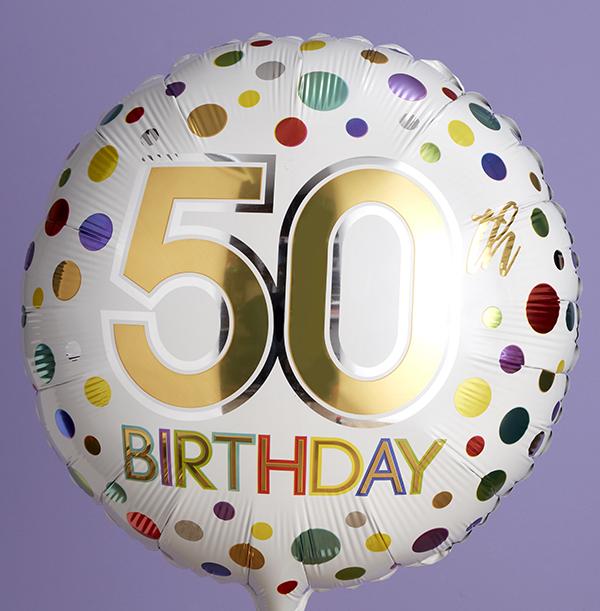 50th Birthday Spots Balloon