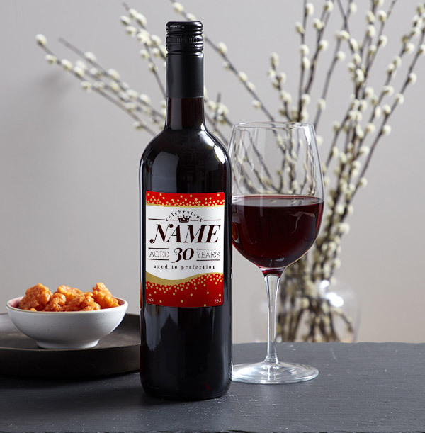 Aged To Perfection Personalised Red Wine