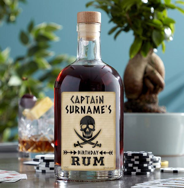 Captains Birthday Personalised Rum