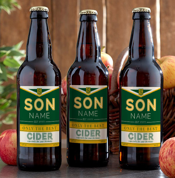 Personalised Son Birthday Cider - Multi Pack