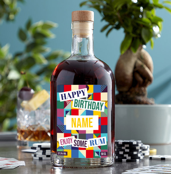 Happy Birthday Personalised Rum