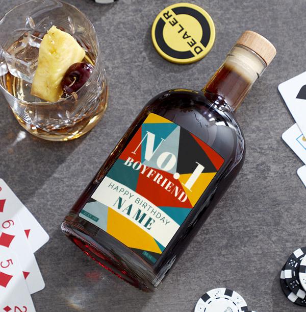 No. 1 Boyfriend Birthday Personalised Rum