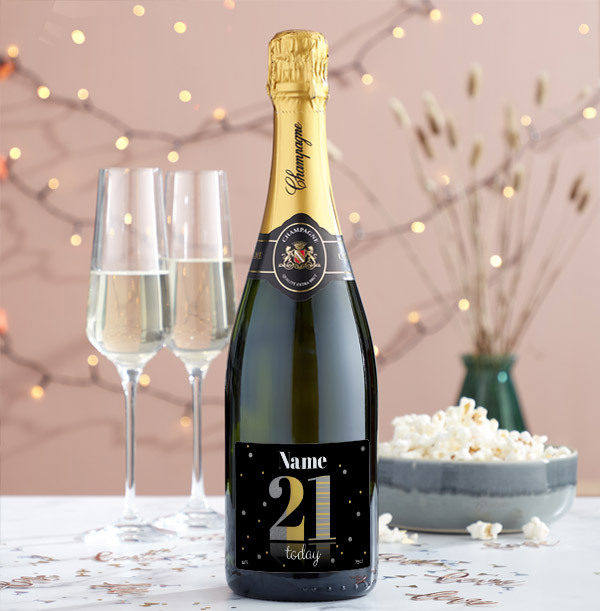 21 Today Personalised Champagne