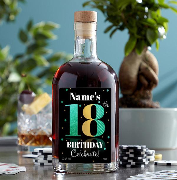 18th Birthday Personalised Rum