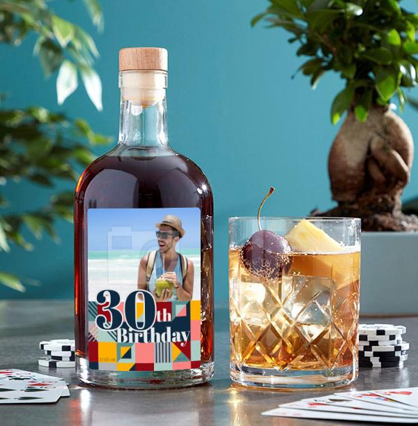 30th Birthday Photo Upload Rum