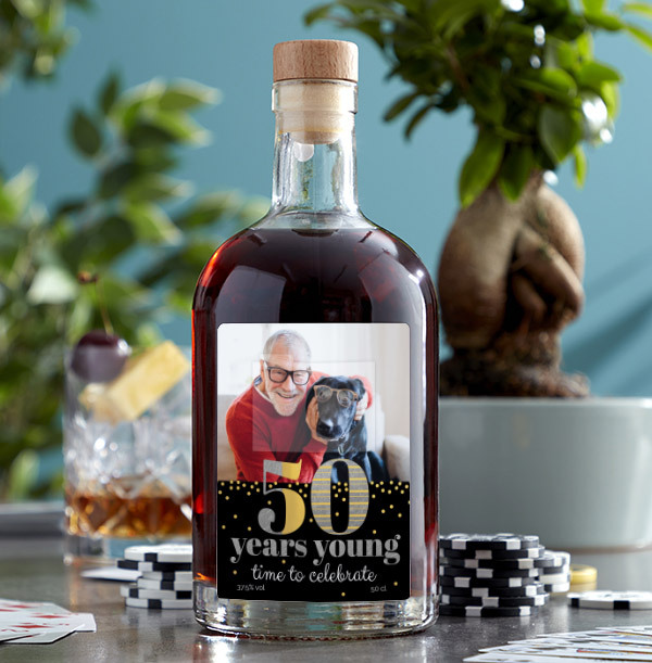 50 Years Young Photo Upload Rum