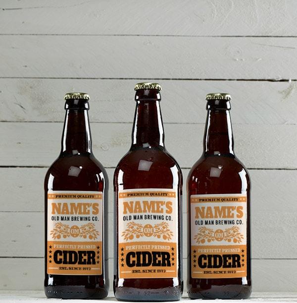 Personalised Multi Pack of Medium Cider