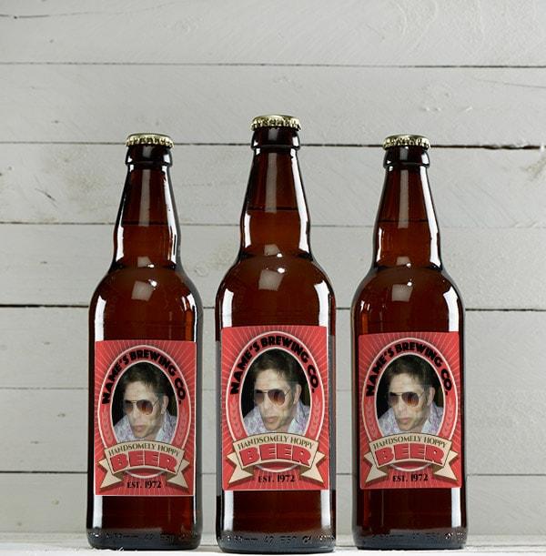 Personalised Beer Bottles - Multi Pack of Mixed Ales