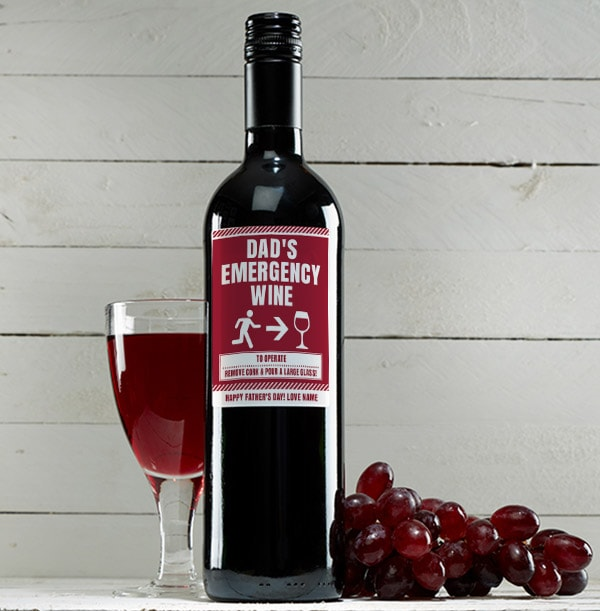 Father's Day Red Wine - Personalised
