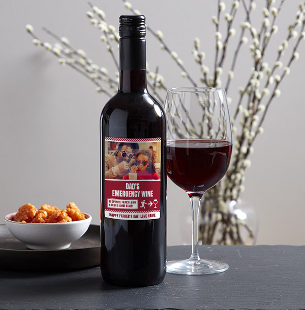 Father's Day Red Wine - Photo Upload