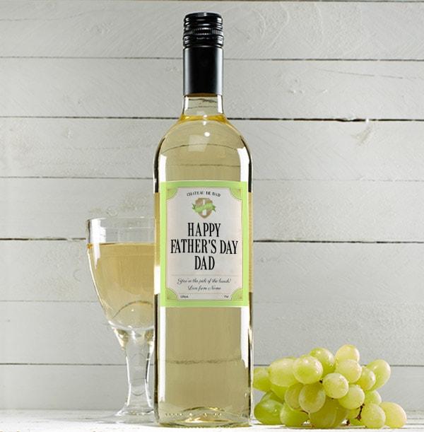 Happy Father's Day Sauvignon Blanc - Personalised