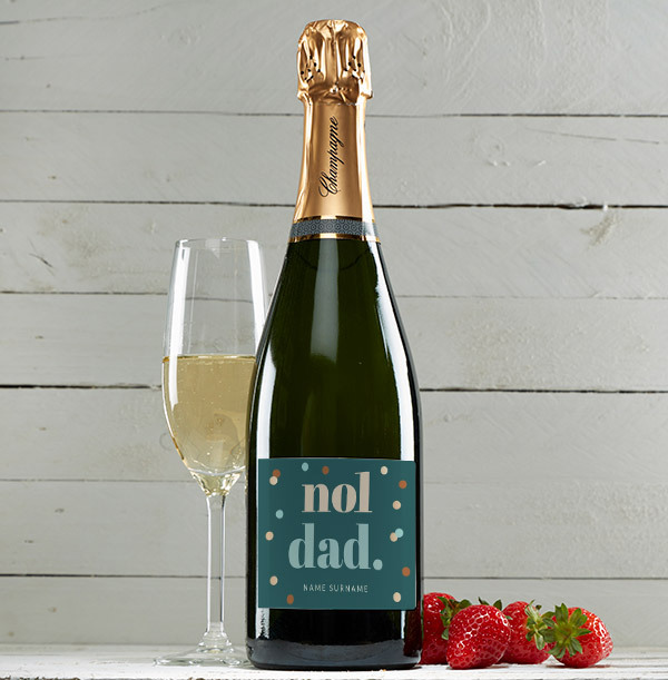 No1. Dad Personalised Champagne Bottle
