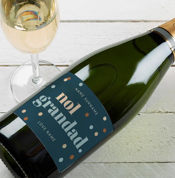 No.1 Grandad Personalised Champagne Bottle