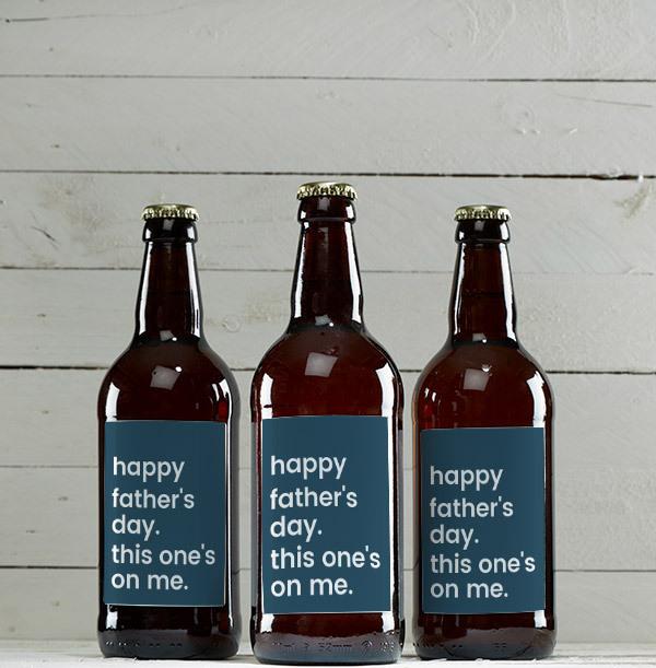 Father's Day This Ones On Me Personalised Cider - Multi Pack