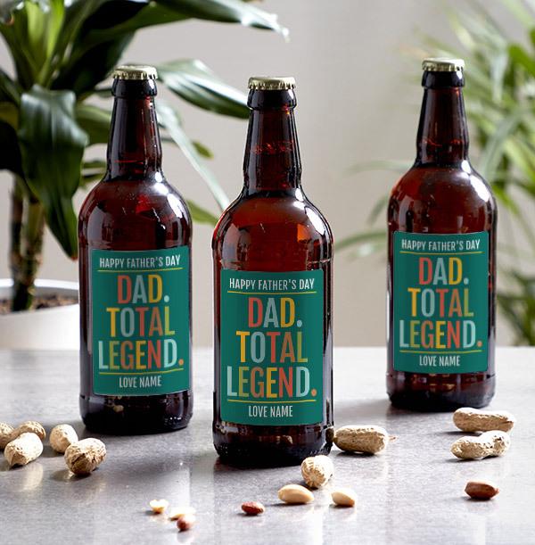 Dad, Total Legend Personalised Beer - Multi Pack
