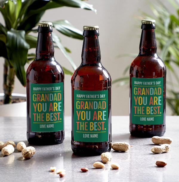 Grandad You Are The Best Personalised Beer- Multi Pack
