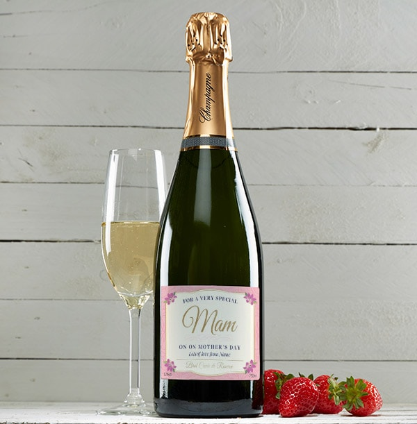 Personalised Mother's Day Champagne Brut Bottle