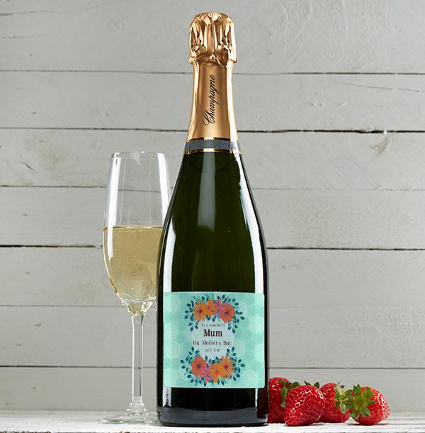 Personalised Wonderful Mum Champagne Brut Bottle