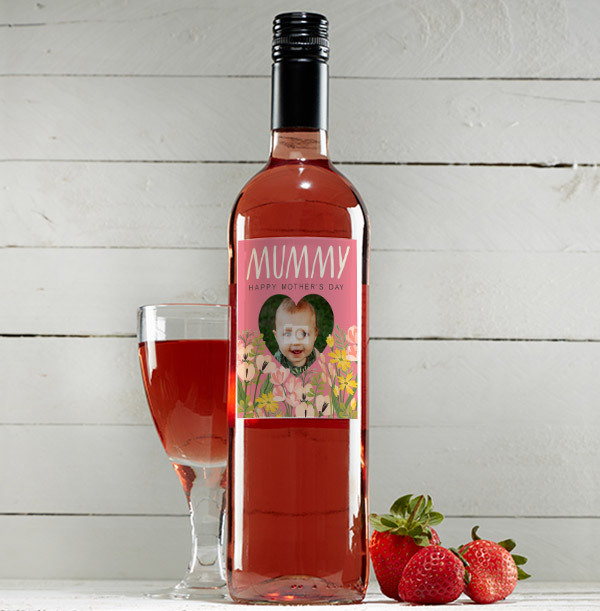 Happy Mother's Day Rose Wine - Photo Upload
