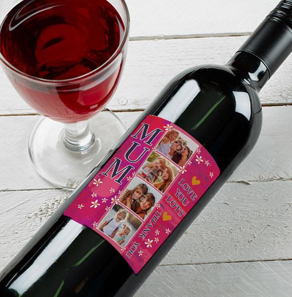 Thank You Mum Red Wine - Photo Upload