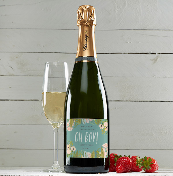 Oh Boy! New Baby Personalised Champagne Brut