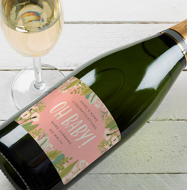 Oh Baby! New Baby Personalised Champagne Brut