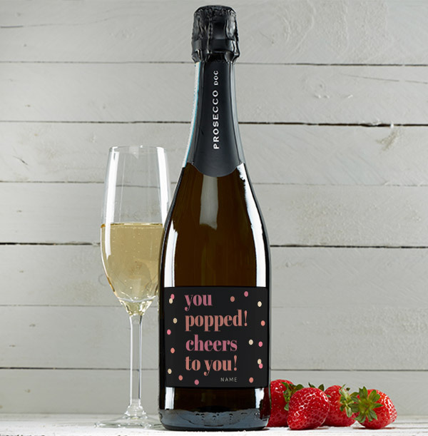 You Popped Personalised Prosecco