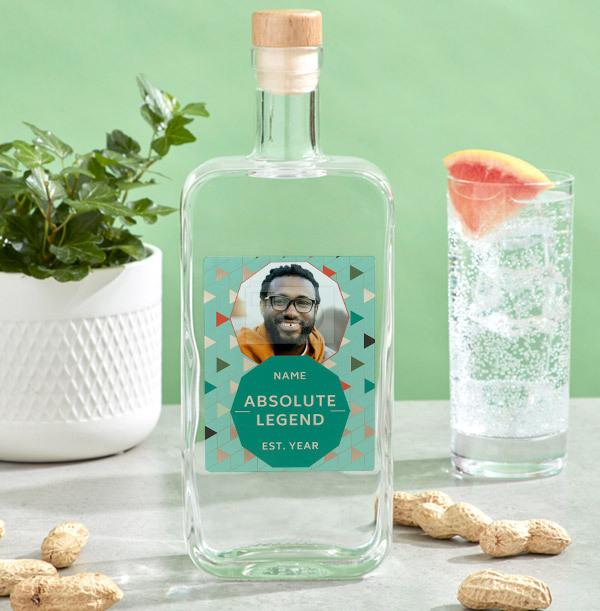 Personalised Birthday Photo Vodka - Absolute Legend