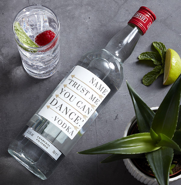 Personalised Birthday Vodka - You Can Dance