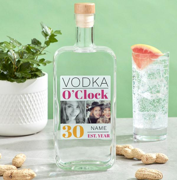 Personalised 30th Birthday Vodka - Multi Photo Upload