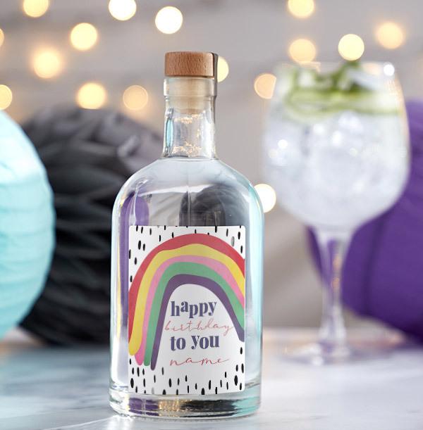 Happy Birthday Personalised London Dry Gin