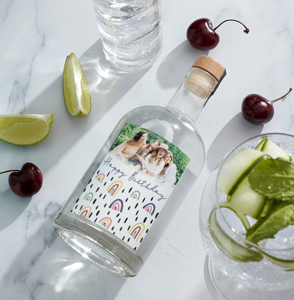 Happy Birthday Photo Upload London Dry Gin