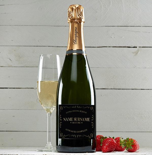 Personalised Champagne Brut Bottle